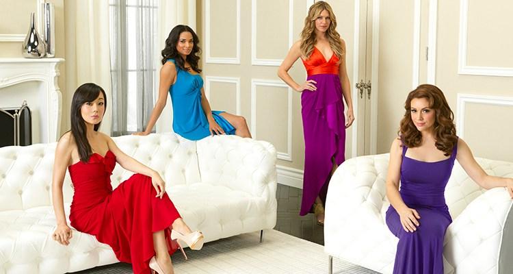 "MISTRESSES - ABC's ""Mistresses"" stars Yunjin Kim as Karen Kim, Rochelle Aytes as April Malloy, Jes Macallan as Josslyn Carver and Alyssa Milano as Savannah (""Savi"") Davis. (ABC/BOB D'AMICO)"