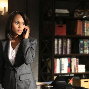 """Pictured: Kerry Washington (Olivia) in the Scandal episode """"Guess Who's Coming to Dinner""""   Photo Credit: Danny Feld/ABC"""