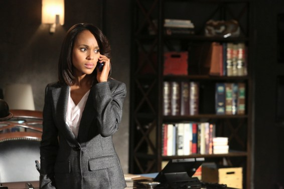"Pictured: Kerry Washington (Olivia) in the Scandal episode ""Guess Who's Coming to Dinner"" 