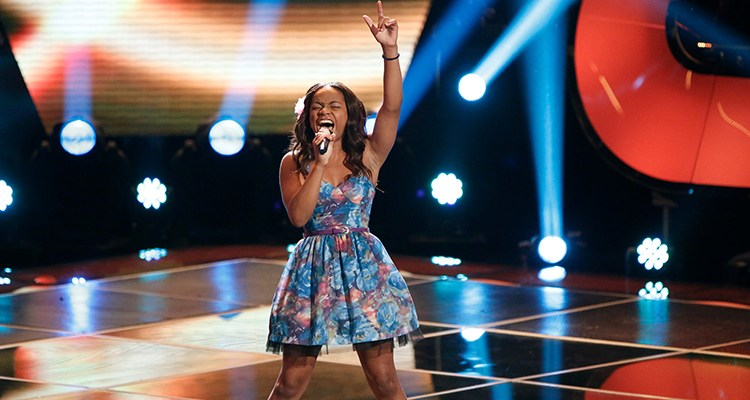 "THE VOICE -- ""Blind Auditions"" Episode 503 -- Pictured: Timyra-Joi Beatty -- (Photo by: Tyler Golden/NBC)"