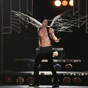 """GLEE: Sam (Chord Overstreet) performs in the """"A Katy or a Gaga"""" episode of GLEE airing Thursday, Nov. 7 (9:00-10:00 PM ET/PT) on FOX. ©2013 Fox Broadcasting Co. CR: Beth Dubber/FOX"""