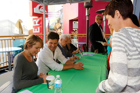 "DAYS OF OUR LIVES -- ""Universal Fan Event"" -- Pictured: (l-r) Arianne Zucker, Greg Vaughan, Bill Hayes  -- (Photo by: Vivian Zink/NBC)"