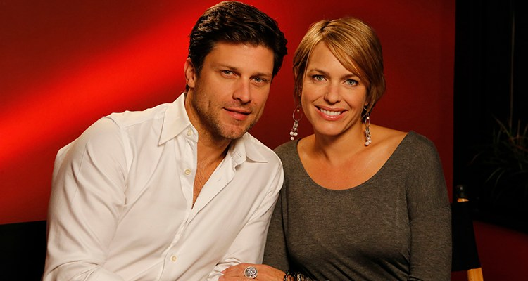 "DAYS OF OUR LIVES -- ""Universal Fan Event"" -- Pictured: (l-r) Greg Vaughan, Arianne Zucker -- (Photo by: Vivian Zink/NBC)"