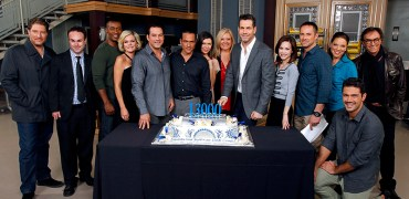 "GENERAL HOSPITAL - The cast of ABC's ""General Hospital"" celebrates its historic 13,000th episode with a cake-cutting ceremony on set with Executive Producer Frank Valentini, Tuesday, January 28, 2014 in Hollywood. Photo Credit: ABC/Rick Rowell; Pictured: SEAN KANAN, NATHAN VARNI (Manager, ABC Current Programming), SEAN BLAKEMORE, MAURA WEST, TYLER CHRISTOPHER, MAURICE BENARD, FINOLA HUGHES, VICKI DUMMER (Executive Vice President, ABC Media Group, Current Series & Specials, ABC Entertainment Group), FRANK VALENTINI (Executive Producer, General Hospital), REBECCA HERBST, WILL DEVRY,  KATHLEEN GATI, RYAN PAEVEY, THAAO PENGHLIS"