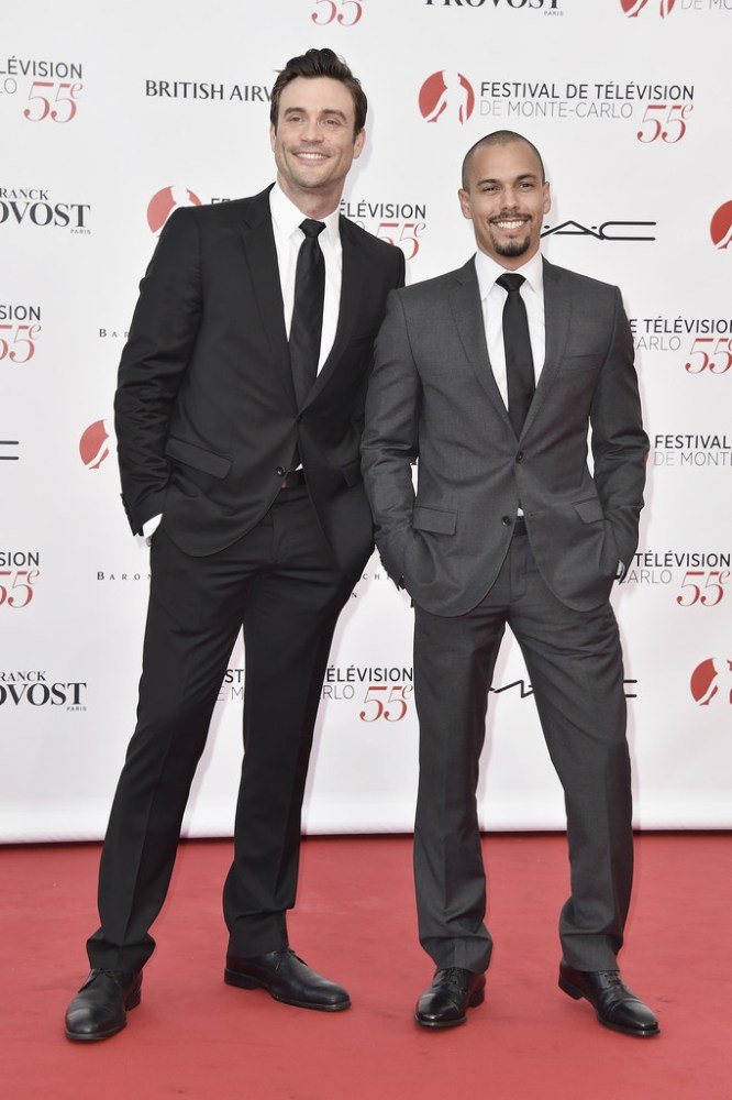 Daniel Goddard and Bryton James arrive to attend the opening ceremony of the 55th Monte Carlo TV Festival on June 13, 2015 in Monte-Carlo, Monaco. Source: Pascal Le Segretain/Getty Images Europe