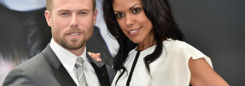 """(L-R) Jacob Young and Karla Mosley attend a photocall for the """"The Bold and the Beautiful"""" TV series on June 15, 2015 in Monte-Carlo, Monaco. Source: Pascal Le Segretain/Getty Images Europe)"""