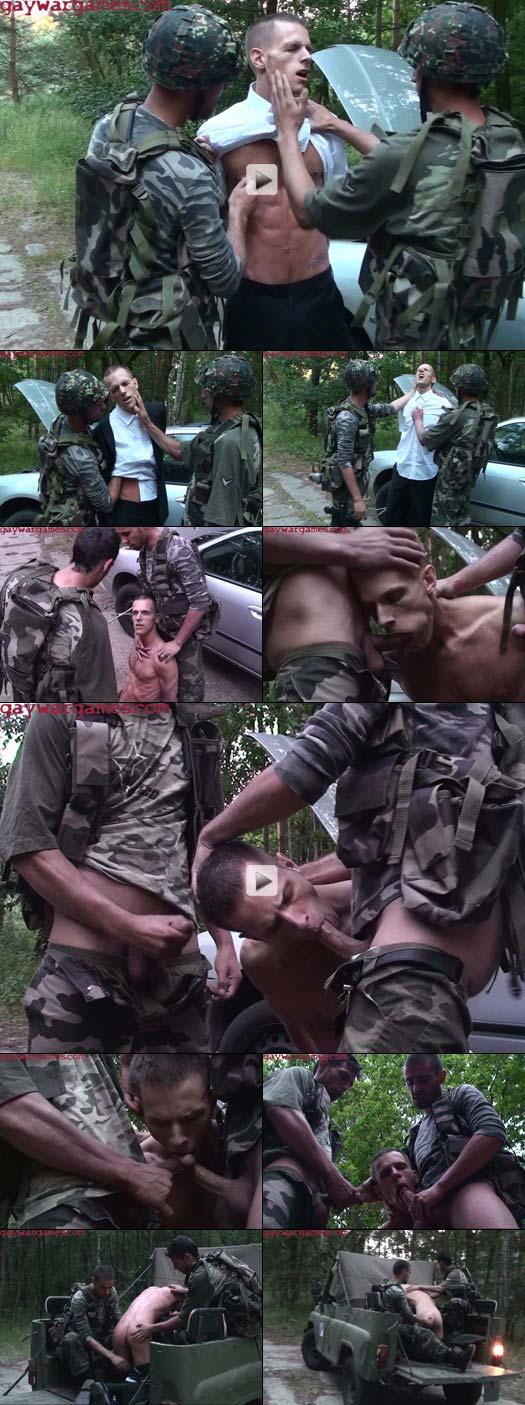 Military fetish bondage fucking