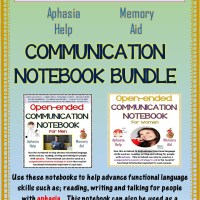 A Terrific Compensatory Memory Aid!  Our Communication Notebooks For Adults With Aphasia or Memory Loss And/or Cognitive Decline