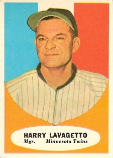Cookie Lavagetto was the Washington Senators manager when they became the Minnesota Twins but he lasted just 66 games and finished with a 25-41 record in 1961.