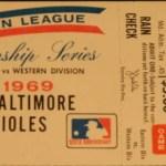 1969 Orioles ALCS ticket