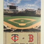 """2010 Twins ticket for opening day and the first """"real"""" game at Target Field. Click on the ticket to see the full image."""