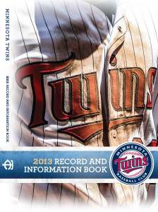 2013 Twins Media Guide
