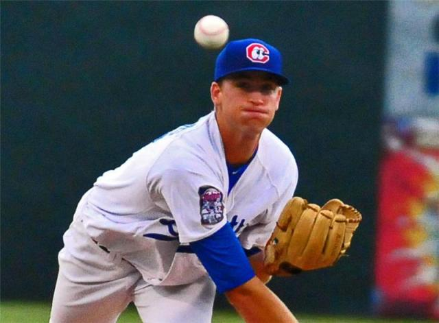 Aaron Slegers went six innings giving up two runs in Sunday's loss.  - photo by Tim Evearitt