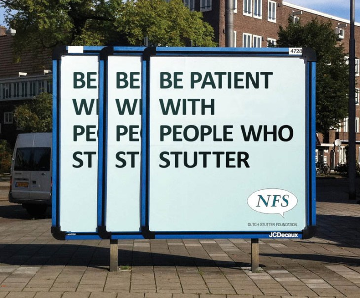 creative billboard for people who stutter