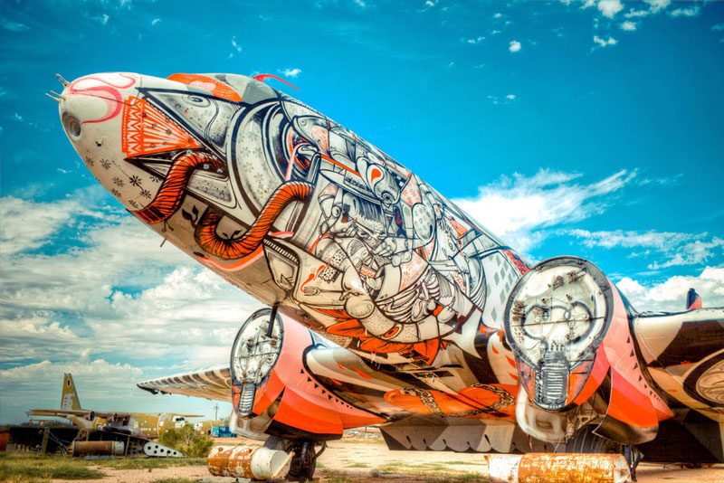 the boneyard project art on old planes (5)