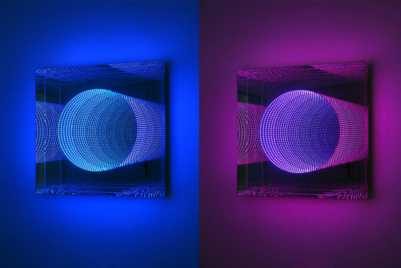 infinite LED artworks plexiglass mirrors hans kotter (1)