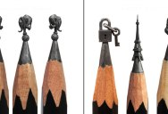 This Guy Carves Miniature Artworks Onto the Tips of Pencils