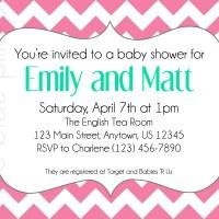 Chevron and Chevron Birdcage Baby Shower Invitations