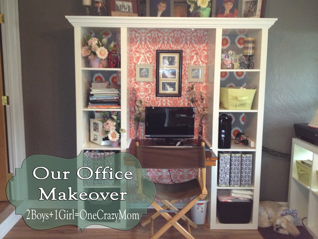 finished office makeover. finished office makeover desk work boys girl crazy n