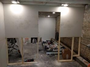 Drywalling temporary walls
