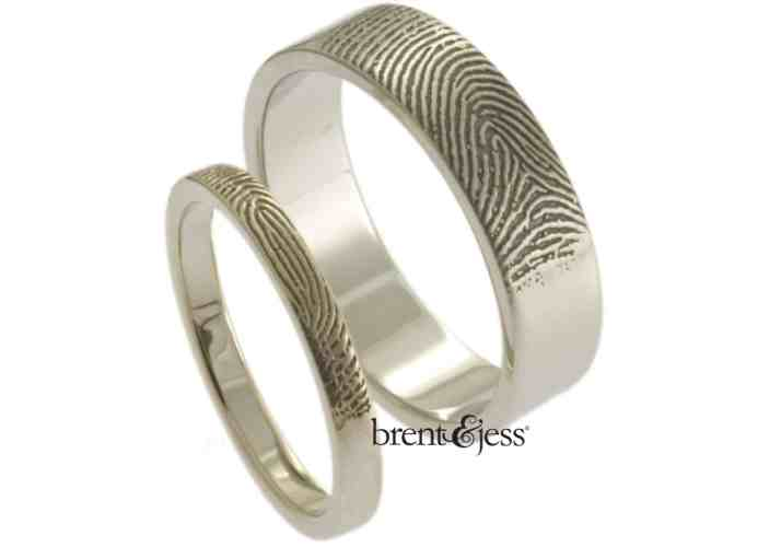 meet brent jess fingerprint wedding band Can