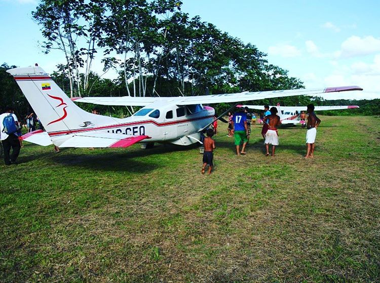 Once our plane touched down on the tiny grass airstriphellip
