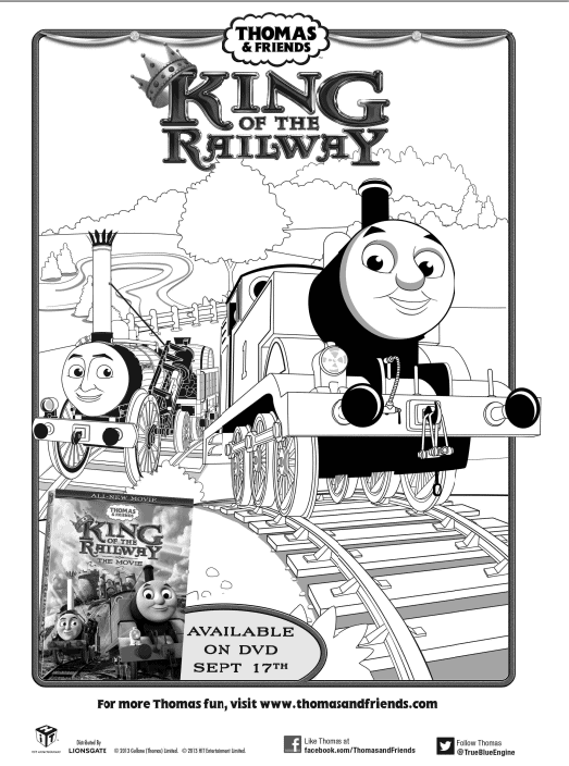 Free Thomas The Train King of the Railway Printable