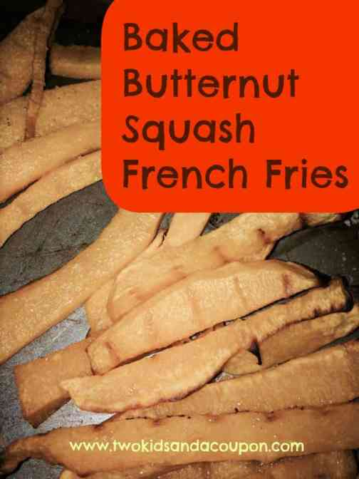 Baked Butternut Squash French Fries