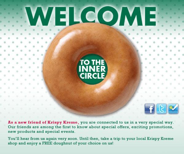 free Krispy Kree Donut