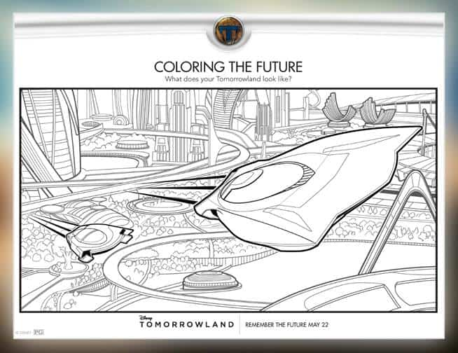 Free #Tomorrowland Printable Coloring Pages and Activity