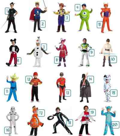 Boys Disney Halloween Costume Ideas