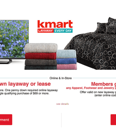 How to do Layaway at Kmart