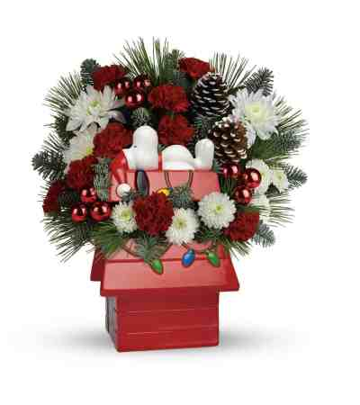 Snoopy Dog House Floral Arrangement