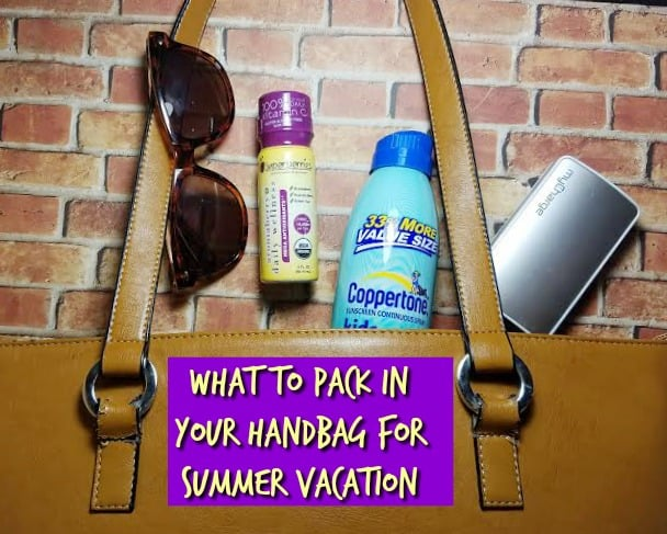 What to Pack in Your Handbag for Summer Vacation- #EatPurple @Superberries #ad