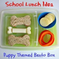 School Lunch Idea Puppy Themed Bento Box