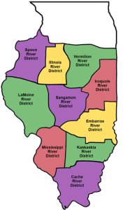 The districts of the IGRC.  Two Rivers Church is in the Spoon River District.