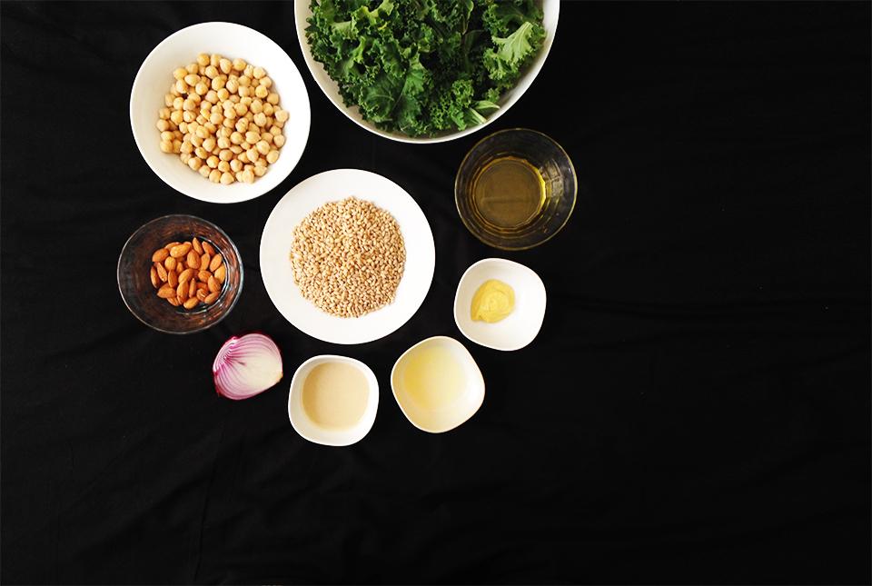 kale barley chickpea salad 1