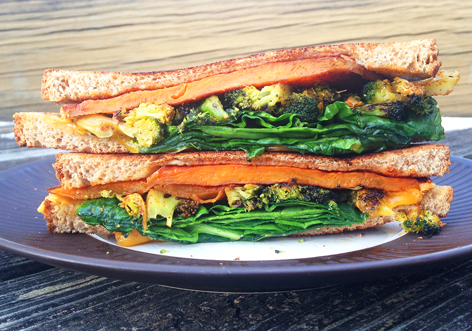 sweet pot broc spinach grilled chz 26