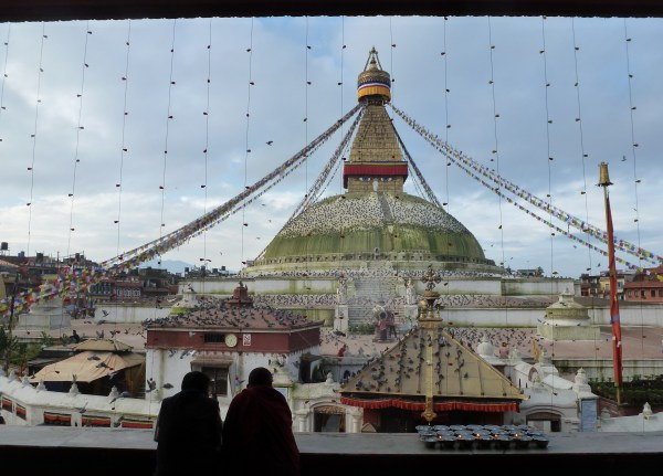 The Boudha Stupa in the morning