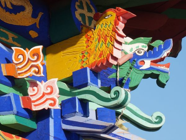 Detail of the new temple in Guoshipan Village