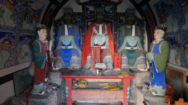 Gods in a temple in Zaowan Village