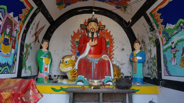 God in a temple in Xiangshui Village