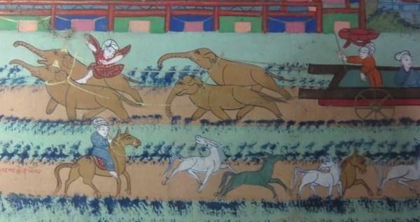 lower center palace - gyung drung dgu brtsegs