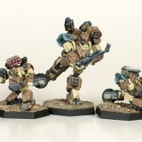 Heavy Gear Northern Recon Squad. Miniatures by Dream Pod 9. Painted by Tyler Provick