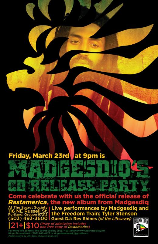 Madgesdiq CD Release Party at Secret Society Ballroom