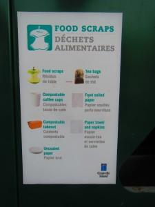 food scraps signage