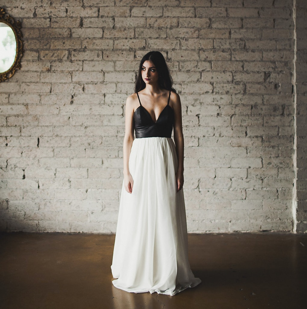 17 alternative wedding dresses for the more adventurous bride to be leather wedding dress