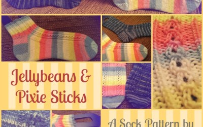 {Knit Pattern} Jellybeans & Pixie Sticks Socks