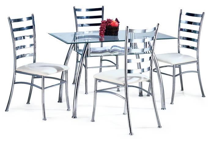 metal or glass furniture