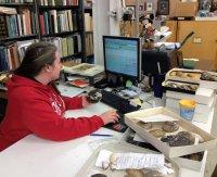 work desk of Caitlin Byrne at the MBD